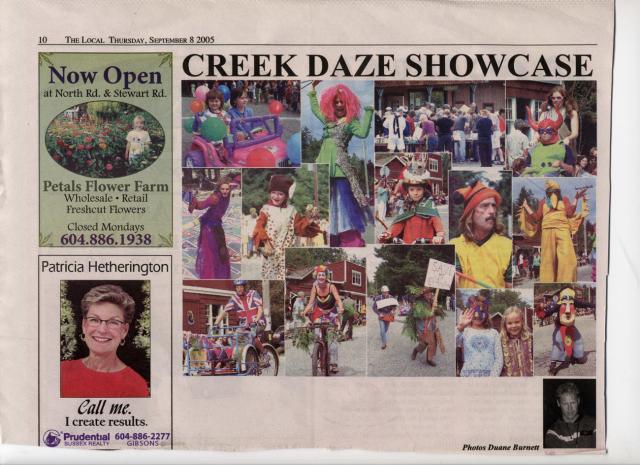 Creek Daze in the news